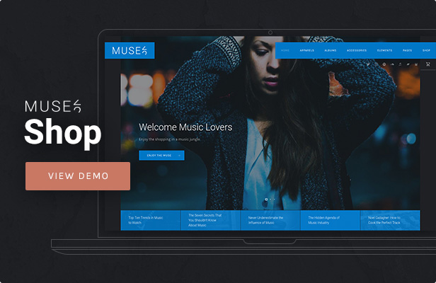 Muse - Music Shop WordPress Theme