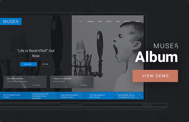 Muse - Music Album WordPress Theme
