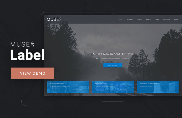 Muse - Music Label WordPress Theme