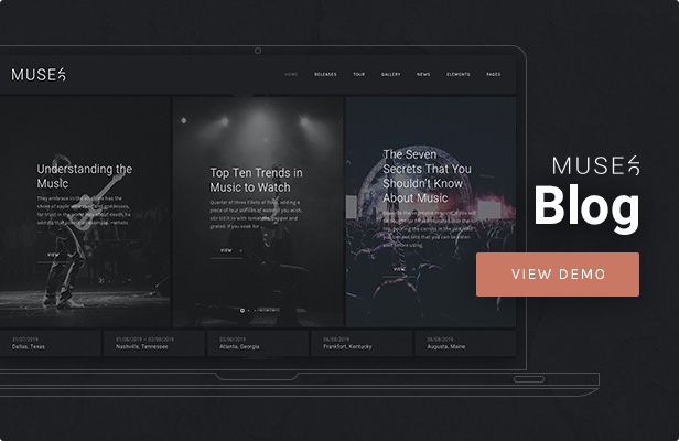 Muse - Music Blog WordPress Theme
