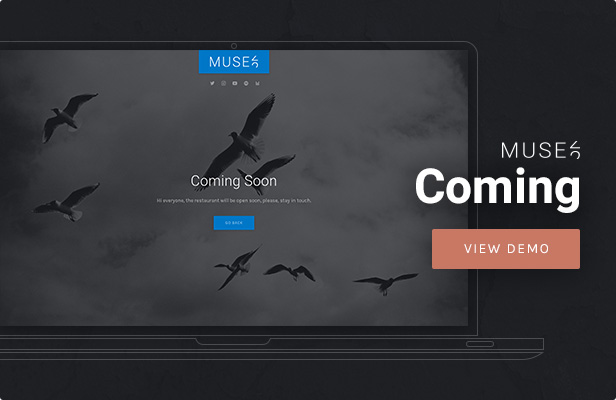Muse - Coming Soon WordPress Theme